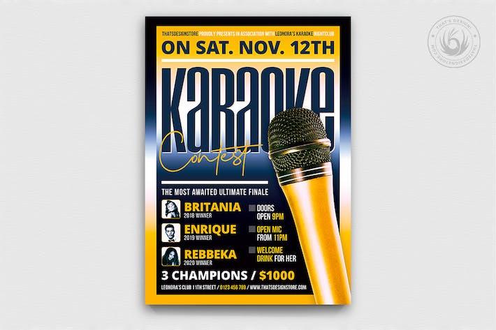 Thumbnail for Karaoke Flyer Template V9