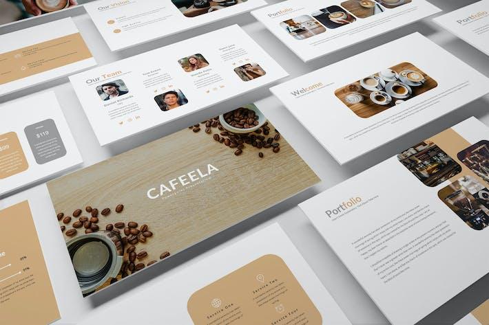 Thumbnail for Caffela — Творческий бизнес Google Слайд Шаблон