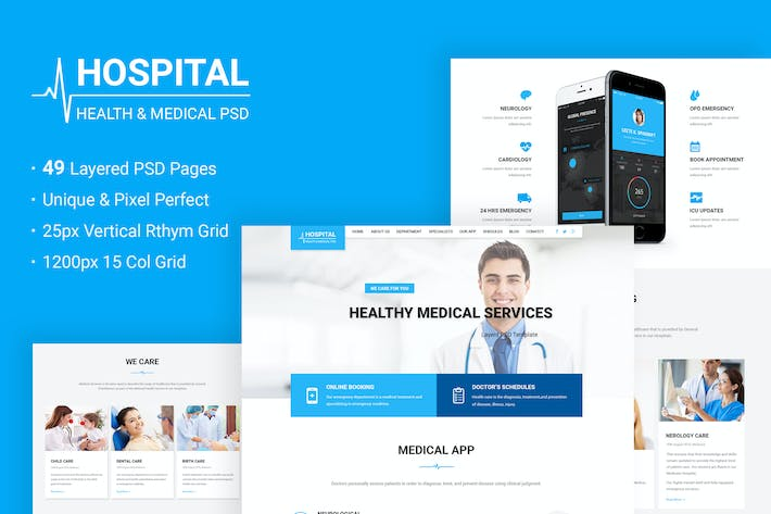 Thumbnail for Hospital - Health & Medical PSD Template