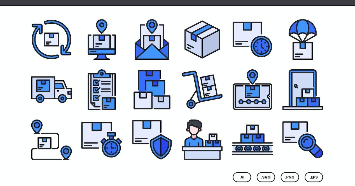 Download 40 Logistics & Delivery Icons Set - Filled Line by kmgdesignid