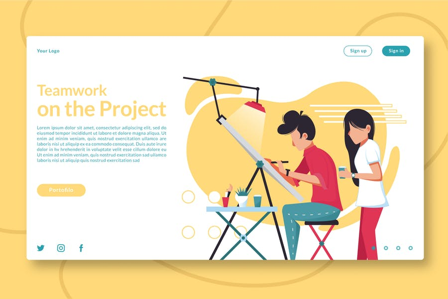 Teamwork on the Project - Landing Page GR