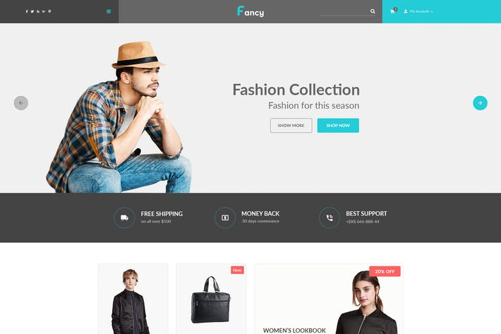 Thumbnail for Fancy – eCommerce PSD Template