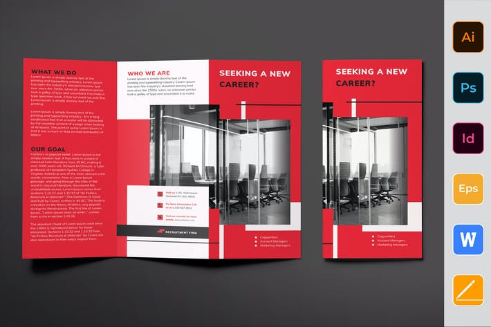 Cover Image For Recruitment Firm Brochure Trifold
