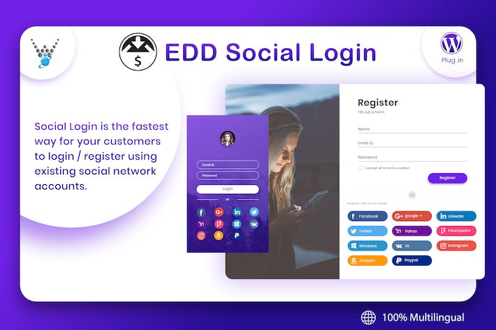 Thumbnail for Easy Digital Downloads - Social Login