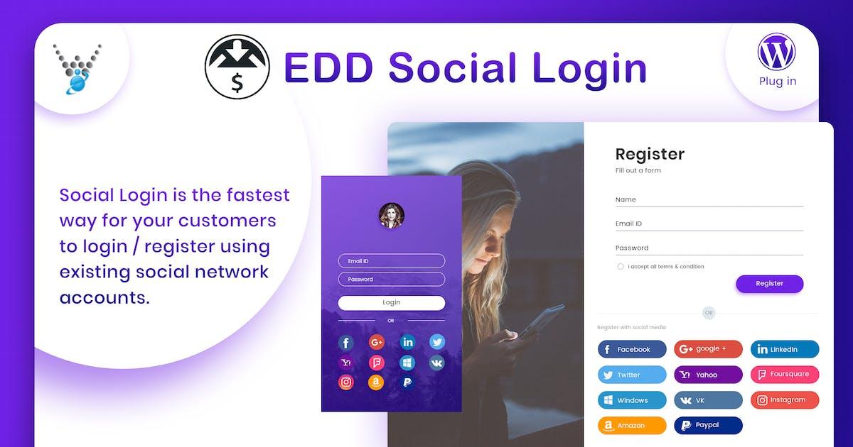 Download Easy Digital Downloads - Social Login by wpweb
