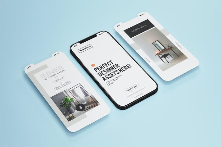 iPhone 12 Application Mock-Up Template