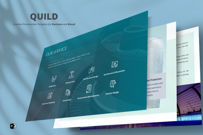 Thumbnail for Quild PowerPoint Template