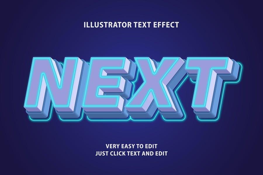 next future text effect