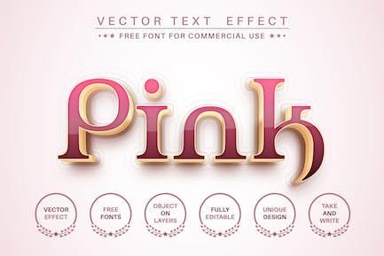 Розовое золото - редактируемый текстовый эффект, стиль шрифта.