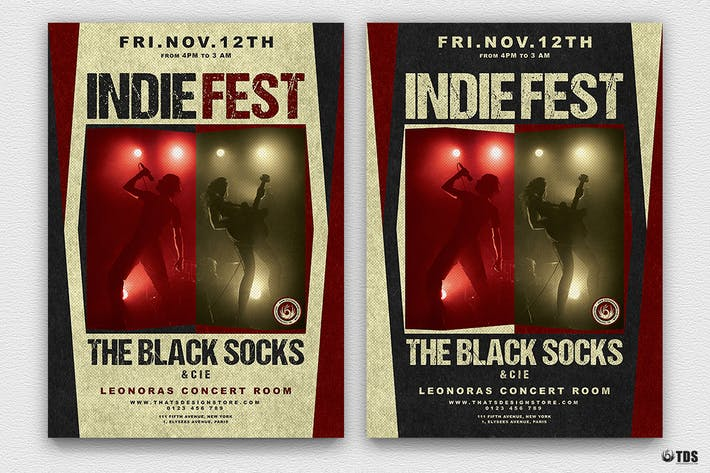 Thumbnail for Indie Live Festival Flyer Template V4