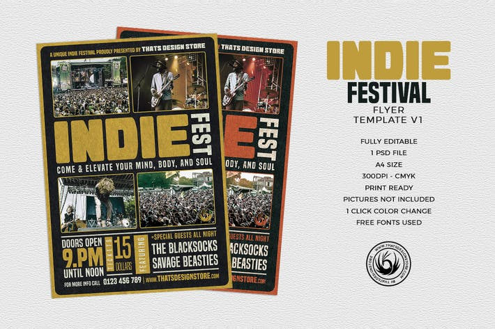 Thumbnail for Indie Fest Flyer Template V1