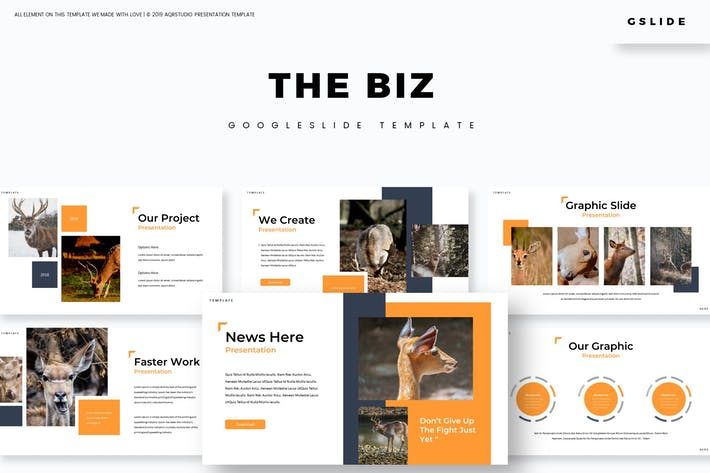 Thumbnail for The Biz - Google Slides Template