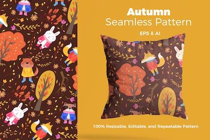 Autumn Animasl Pattern