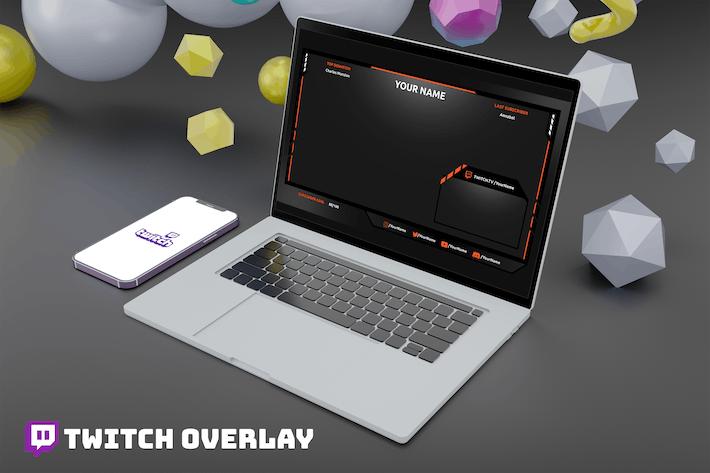 Gamecenter - Twitch Overlay Template