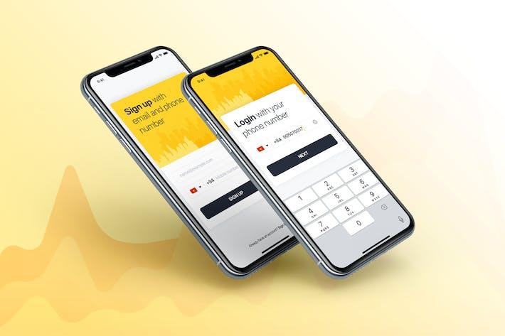 Cover Image For Концепция регистрации и входа в систему для мобильного Приложение