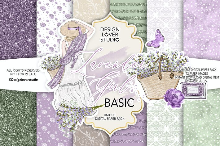 Thumbnail for Lavender Girl BASIC paper pack