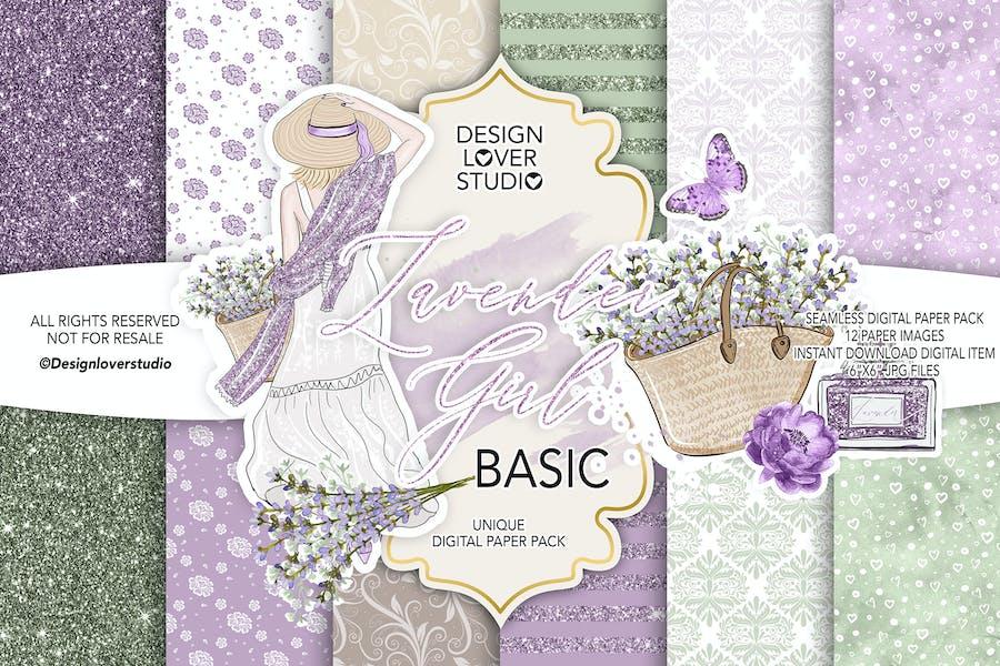 Lavender Girl BASIC paper pack
