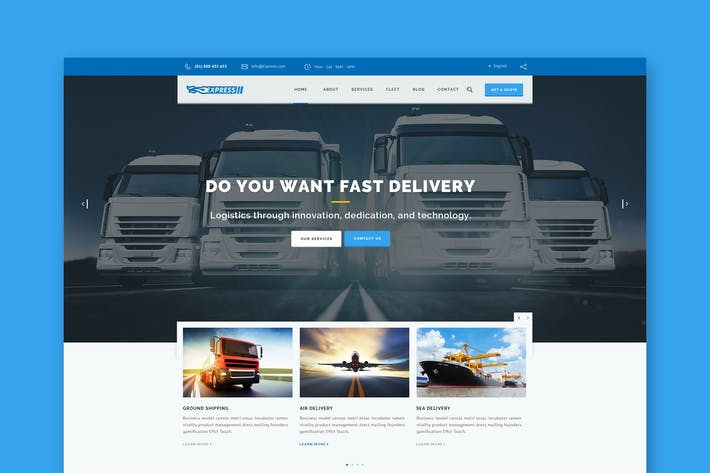 Thumbnail for Express Logistics - Transport & Logistics HTML