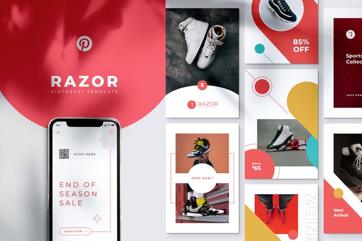 Thumbnail for RAZOR Shoes Store Promotions Pinterest Template