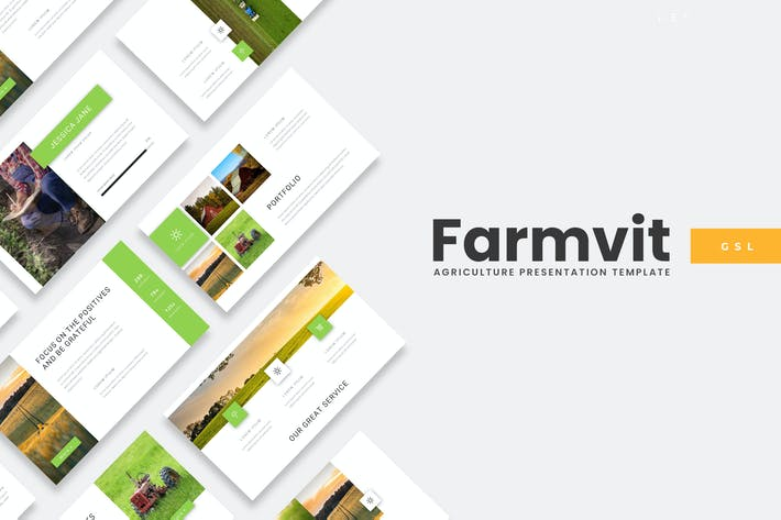 Thumbnail for Farmvit - Agriculture Google Slides Template