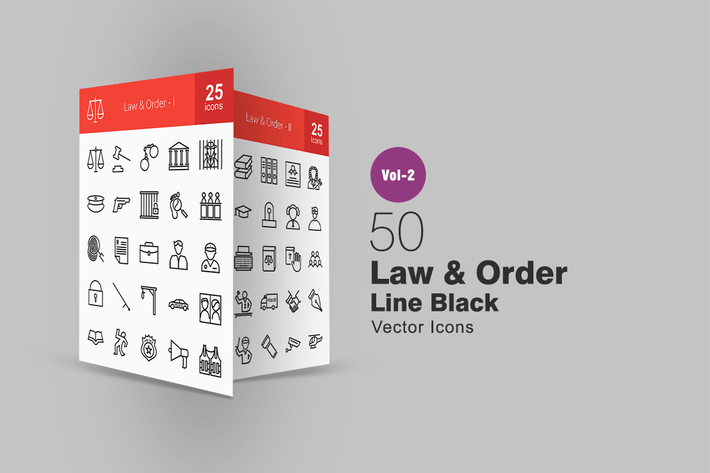 Thumbnail for 50 Law & Order Line Icons