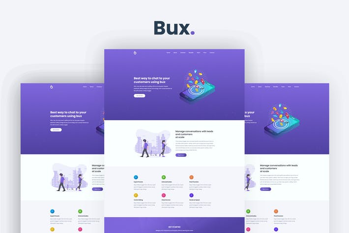 Thumbnail for Bux - Startup and SaaS Template