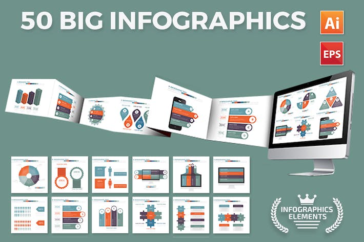 Thumbnail for 50 Infographics Design