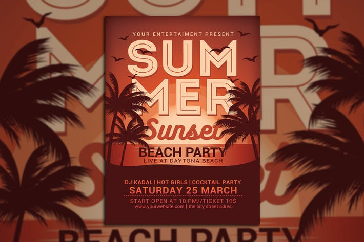 Thumbnail for Summer Sunset Beach Party