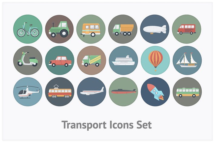 Thumbnail for Transport Circle Icons