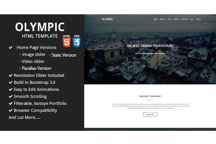 Thumbnail for Olympic One Page Parallax Template