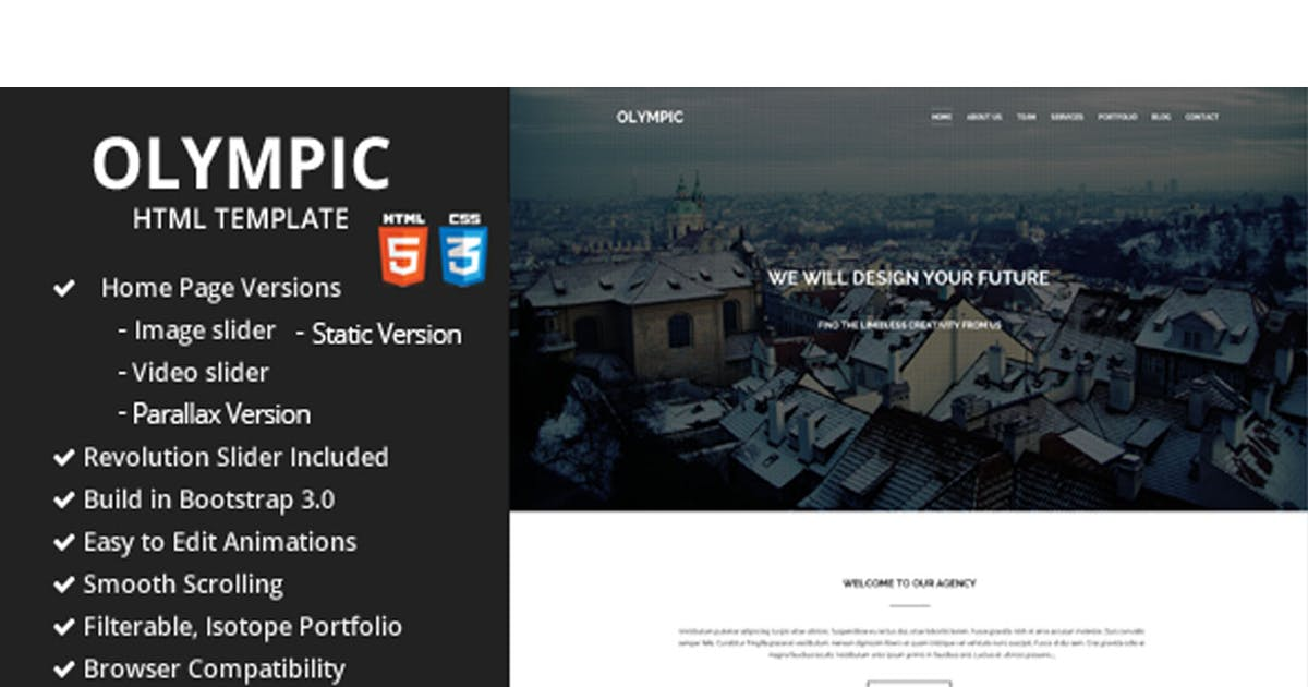 Download Olympic One Page Parallax Template by SpyroPress