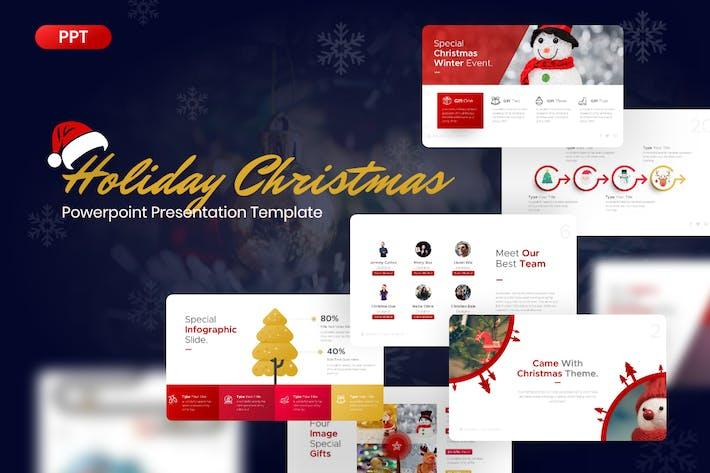 Праздничный Рождественский Шаблон Powerpoint