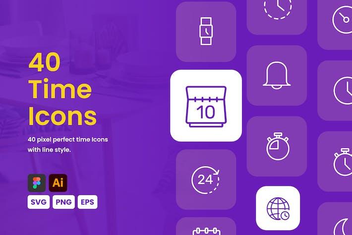 Thumbnail for Time Icon Set