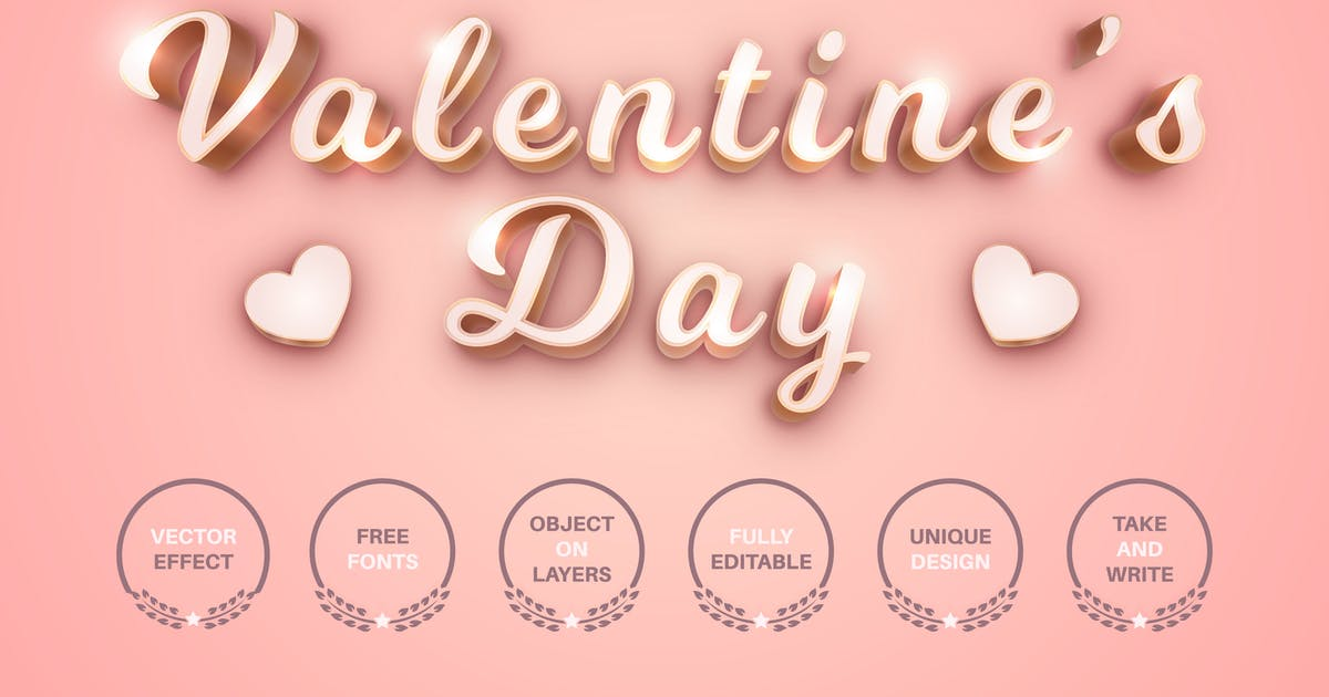 Download Valentine's day - editable text effect font style by rwgusev