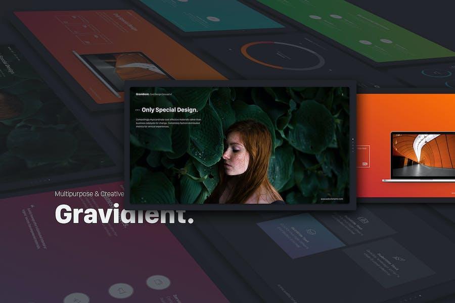 Gravidient Powerpoint Simply Theme
