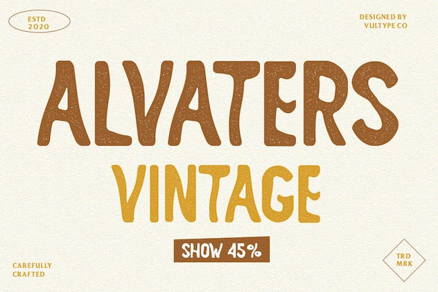 ALVATERS - Hand Drawn Font