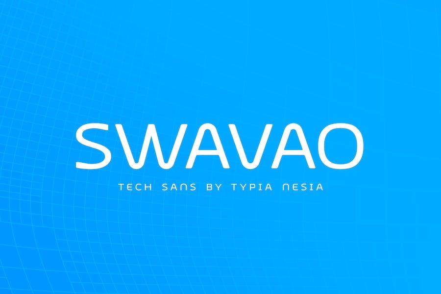 Swavao Futuristic Modern font - Techno Sans Serif