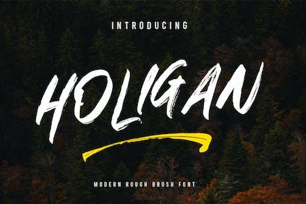 Holigan - Brush Font