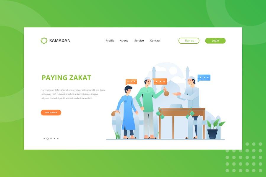 Paying Zakat Landing Page