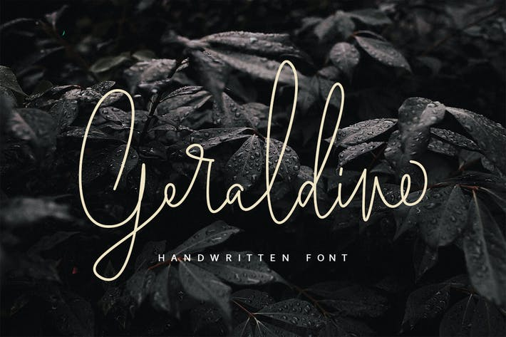 Thumbnail for Geraldine | Handwritten Font MS