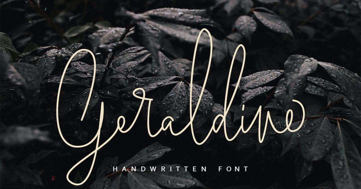 Download Geraldine | Handwritten Font MS by templatehere