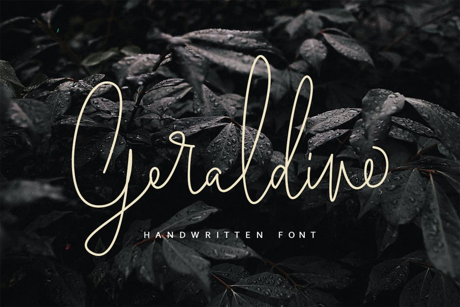 Download Geraldine | Handwritten Font by templatehere