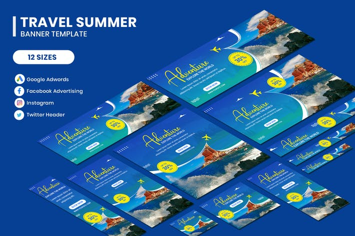 Thumbnail for Travel Banner Template