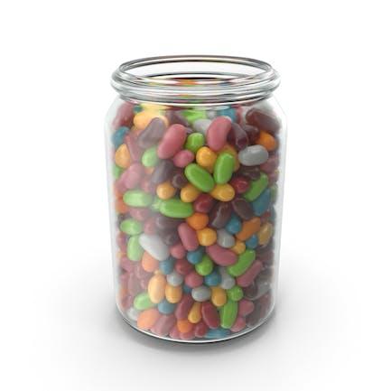 Glas mit Jelly Beans