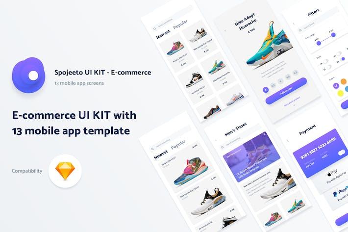 Thumbnail for Kit de interfaz de usuario para Aplicación móviles de Spojeeto E-Commerce