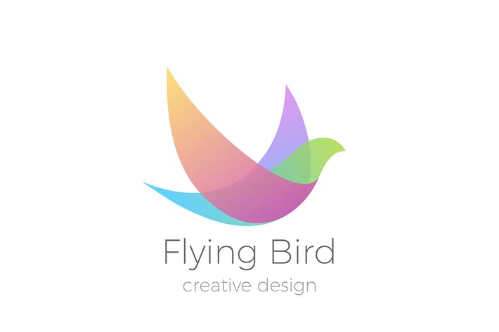 Thumbnail for Logo Flying Bird Swallow Dove Colorful