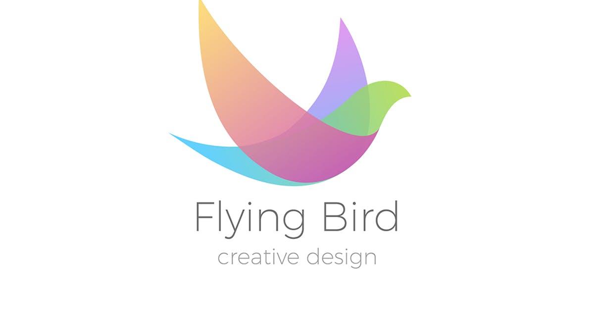Logo Flying Bird Swallow Dove Colorful by Sentavio