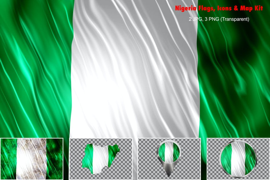 Download Nigeria Flags Icons Map Kit by StrokeVorkz