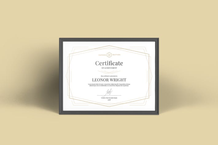 Thumbnail for Geometric Certificate Template