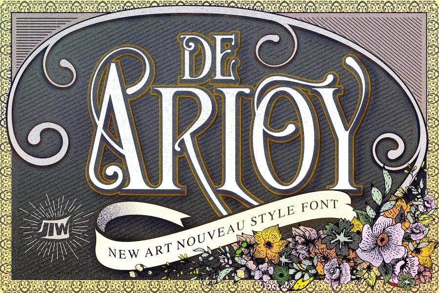 De Arloy Typeface   New Art Nouveau Style